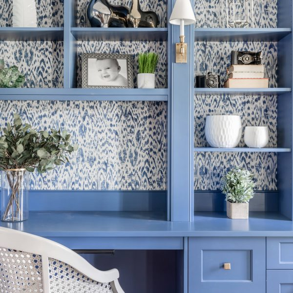 modern blue cabinets