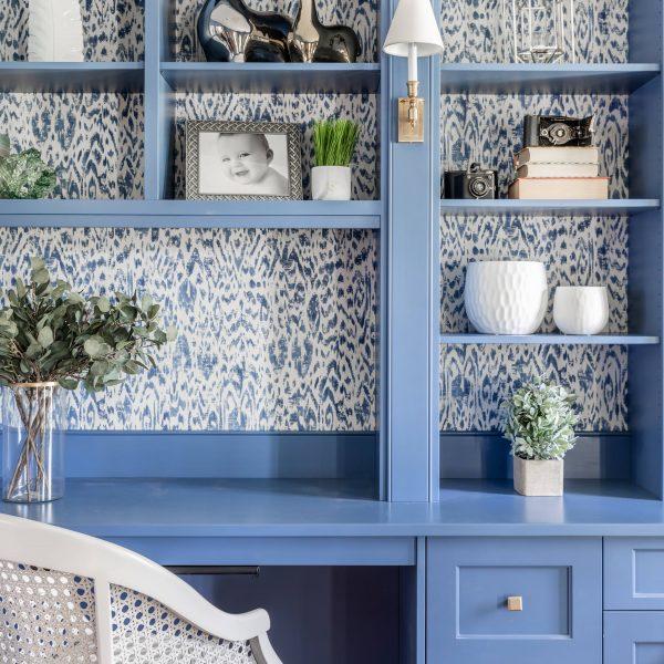 modern blue cabinets